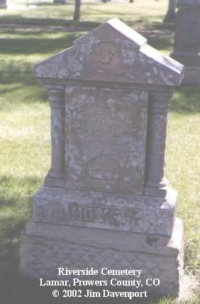 HOVER, FLEMIN S. - Prowers County, Colorado | FLEMIN S. HOVER - Colorado Gravestone Photos