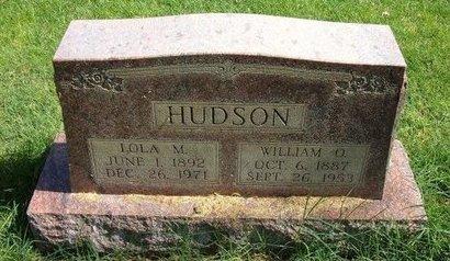 HUDSON, WILLIAM O - Prowers County, Colorado | WILLIAM O HUDSON - Colorado Gravestone Photos
