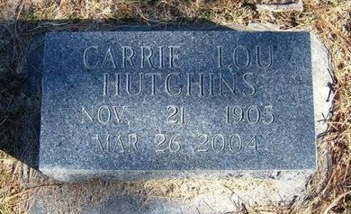 MILLER HUTCHINS, CARRIE LOU - Prowers County, Colorado | CARRIE LOU MILLER HUTCHINS - Colorado Gravestone Photos