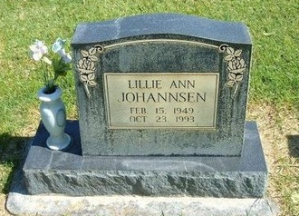 JOHANNSEN, LILLIE ANN - Prowers County, Colorado | LILLIE ANN JOHANNSEN - Colorado Gravestone Photos