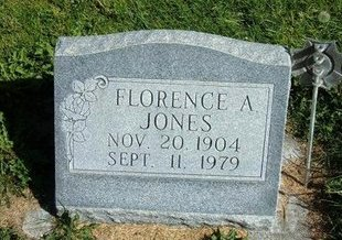 "JONES, FLORENCE A ""FANNIE"" - Prowers County, Colorado 