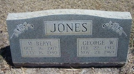 JONES, GEORGE WASHINGTON - Prowers County, Colorado | GEORGE WASHINGTON JONES - Colorado Gravestone Photos