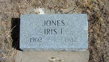 JONES, IRIS I - Prowers County, Colorado   IRIS I JONES - Colorado Gravestone Photos