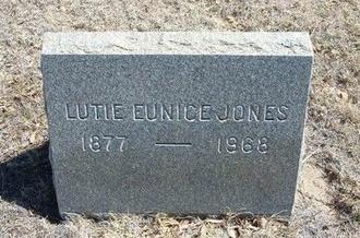 JONES, LUTIE EUNICE - Prowers County, Colorado | LUTIE EUNICE JONES - Colorado Gravestone Photos