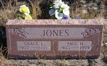 JONES, GRACE L - Prowers County, Colorado | GRACE L JONES - Colorado Gravestone Photos