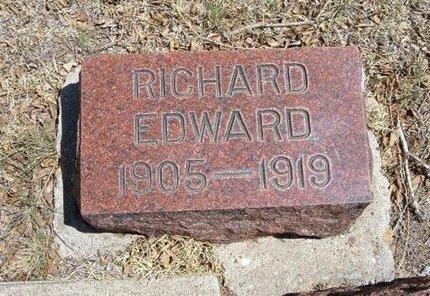 JONES, RICHARD EDWARD - Prowers County, Colorado | RICHARD EDWARD JONES - Colorado Gravestone Photos