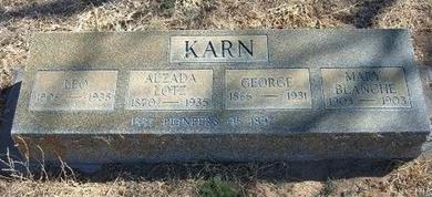 LOTTS KARN, ALZADA - Prowers County, Colorado | ALZADA LOTTS KARN - Colorado Gravestone Photos