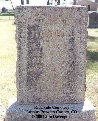 KINISTON, FLORENCE B. - Prowers County, Colorado | FLORENCE B. KINISTON - Colorado Gravestone Photos