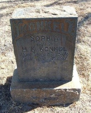 CRUNKILTON KONKEL, SOPHIA - Prowers County, Colorado | SOPHIA CRUNKILTON KONKEL - Colorado Gravestone Photos