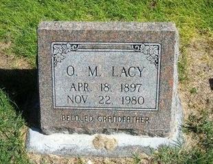 LACY, O M - Prowers County, Colorado | O M LACY - Colorado Gravestone Photos