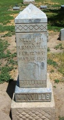 MANVILLE, NELLIE M - Prowers County, Colorado | NELLIE M MANVILLE - Colorado Gravestone Photos