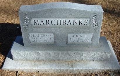 MARCHBANKS, JOHN B - Prowers County, Colorado | JOHN B MARCHBANKS - Colorado Gravestone Photos