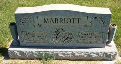 MARRIOTT, WARREN V - Prowers County, Colorado | WARREN V MARRIOTT - Colorado Gravestone Photos
