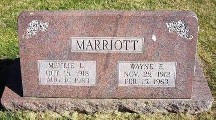 MARRIOTT, WAYNE E - Prowers County, Colorado   WAYNE E MARRIOTT - Colorado Gravestone Photos