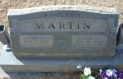 MARTIN, ISABEL G - Prowers County, Colorado | ISABEL G MARTIN - Colorado Gravestone Photos