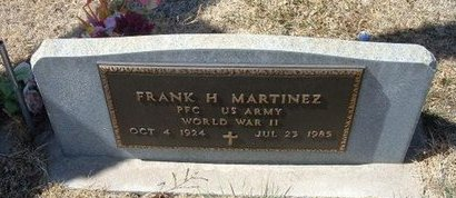 MARTINEZ (VETERAN WWII), FRANK H - Prowers County, Colorado | FRANK H MARTINEZ (VETERAN WWII) - Colorado Gravestone Photos