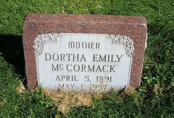 MCCORMACK, DORTHEA EMILY - Prowers County, Colorado   DORTHEA EMILY MCCORMACK - Colorado Gravestone Photos