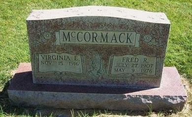 MCCORMACK, FRED R - Prowers County, Colorado   FRED R MCCORMACK - Colorado Gravestone Photos