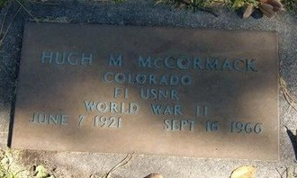 MCCORMACK (VETERAN WWII), HUGH M - Prowers County, Colorado | HUGH M MCCORMACK (VETERAN WWII) - Colorado Gravestone Photos