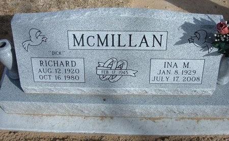 "MCMILLAN, RICHARD P ""DICK"" - Prowers County, Colorado | RICHARD P ""DICK"" MCMILLAN - Colorado Gravestone Photos"