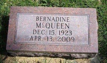 MCQUEEN, BERNADINE - Prowers County, Colorado | BERNADINE MCQUEEN - Colorado Gravestone Photos