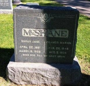 MCSHANE, FRANCIS MARION - Prowers County, Colorado | FRANCIS MARION MCSHANE - Colorado Gravestone Photos