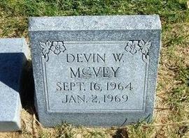 MCVEY, DAVID W - Prowers County, Colorado | DAVID W MCVEY - Colorado Gravestone Photos