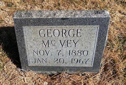 MCVEY, GEORGE - Prowers County, Colorado | GEORGE MCVEY - Colorado Gravestone Photos