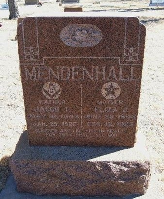 "SELF MENDENHALL, ELIZA JANE ""JENNIE"" - Prowers County, Colorado 