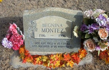 MONTEZ, BEGNINA - Prowers County, Colorado   BEGNINA MONTEZ - Colorado Gravestone Photos