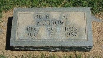 MORROW, RUTH A - Prowers County, Colorado | RUTH A MORROW - Colorado Gravestone Photos