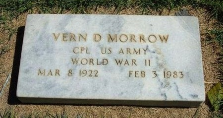 MORROW (VETERAN WWII), VERN D - Prowers County, Colorado | VERN D MORROW (VETERAN WWII) - Colorado Gravestone Photos