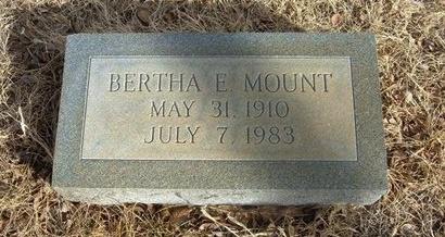MOUNT, BERTHA E - Prowers County, Colorado | BERTHA E MOUNT - Colorado Gravestone Photos