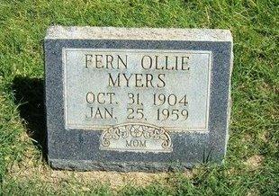 MYERS, FERN OLLIE - Prowers County, Colorado | FERN OLLIE MYERS - Colorado Gravestone Photos