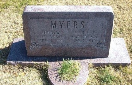 MYERS, JOHN W - Prowers County, Colorado | JOHN W MYERS - Colorado Gravestone Photos