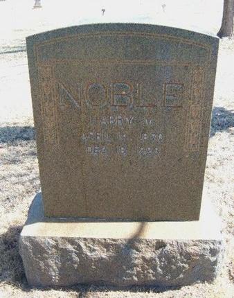 NOBLE, HARRY M - Prowers County, Colorado   HARRY M NOBLE - Colorado Gravestone Photos