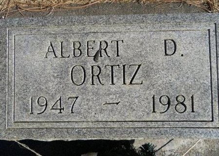 ORTIZ, ALBERT D - Prowers County, Colorado | ALBERT D ORTIZ - Colorado Gravestone Photos