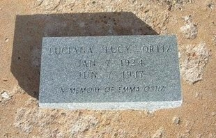 "ORTIZ, LUCIANA ""LUCY"" - Prowers County, Colorado 