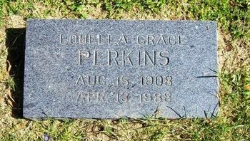 PERKINS, LOUELLA GRACE - Prowers County, Colorado   LOUELLA GRACE PERKINS - Colorado Gravestone Photos