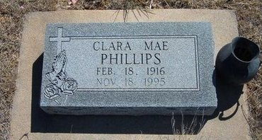 PHILLIPS, CLARA MAE - Prowers County, Colorado | CLARA MAE PHILLIPS - Colorado Gravestone Photos