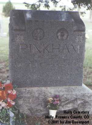 PINKHAM, CHARLES A. - Prowers County, Colorado | CHARLES A. PINKHAM - Colorado Gravestone Photos