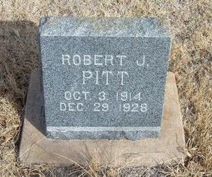 PITT, ROBERT J - Prowers County, Colorado | ROBERT J PITT - Colorado Gravestone Photos
