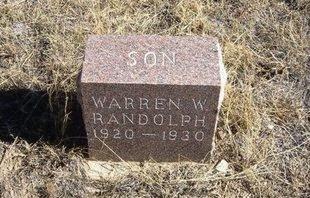 RANDOLPH, WARREN W - Prowers County, Colorado | WARREN W RANDOLPH - Colorado Gravestone Photos
