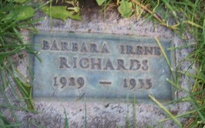 RICHARDS, BARBARA IRENE - Prowers County, Colorado   BARBARA IRENE RICHARDS - Colorado Gravestone Photos