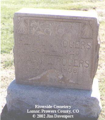 ROGERS, MARY E. - Prowers County, Colorado | MARY E. ROGERS - Colorado Gravestone Photos