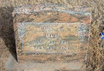 ROWE, JOHN RICHARD - Prowers County, Colorado | JOHN RICHARD ROWE - Colorado Gravestone Photos