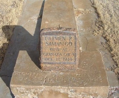 SAMANIGO, CARMEN R - Prowers County, Colorado | CARMEN R SAMANIGO - Colorado Gravestone Photos