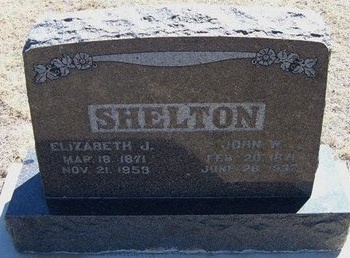 SHELTON, ELIZABETH J - Prowers County, Colorado | ELIZABETH J SHELTON - Colorado Gravestone Photos