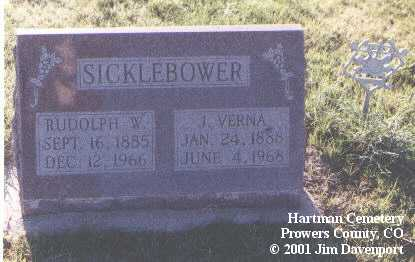 SICKLEBOWER, RUDOLPH W. - Prowers County, Colorado   RUDOLPH W. SICKLEBOWER - Colorado Gravestone Photos