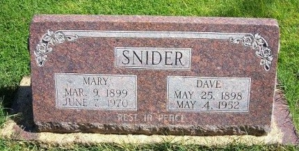 SNIDER, DAVE - Prowers County, Colorado | DAVE SNIDER - Colorado Gravestone Photos